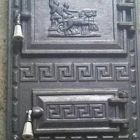 "Дверца печная спаренная чугунная ""Илиада"" 380*520 мм (вес - 16 кг), фото 1"
