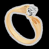 Золотое помолвочное кольцо с бриллиантом Желанная 16.5 000035368