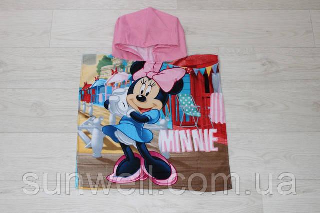 пляжное пончо disney minnie mouse