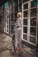Женский замшевый костюм пиджак на заклёпках + брюки.ТМ B&H, фото 1