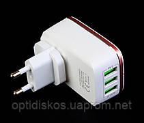 Адаптер для USB зарядки от сети LDNIO A3304, 3USB/3,4A, фото 3