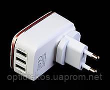 Адаптер для USB зарядки от сети LDNIO A3304, 3USB/3,4A, фото 2