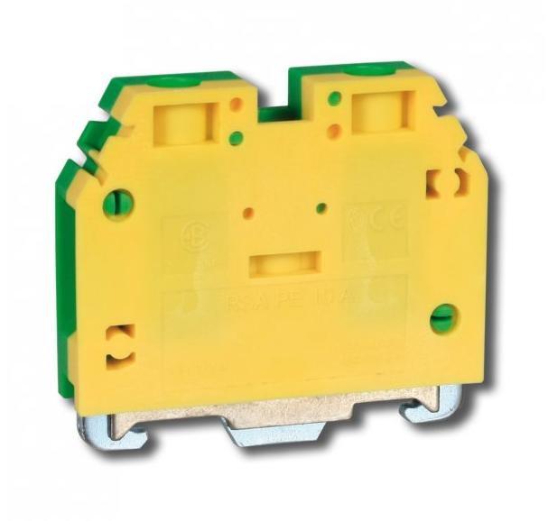 Клема гвинтова для заземлення RSA PE 10 A жовто-зелена (A551231)