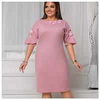 Платье Nikolo Polini розовое размер+