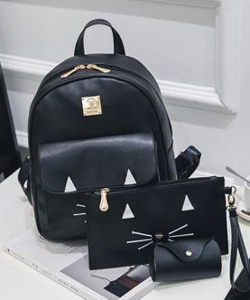 набор рюкзак с сумочкой и кошельком