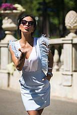 Юбка-сарафан с перьями Страуса, фото 3
