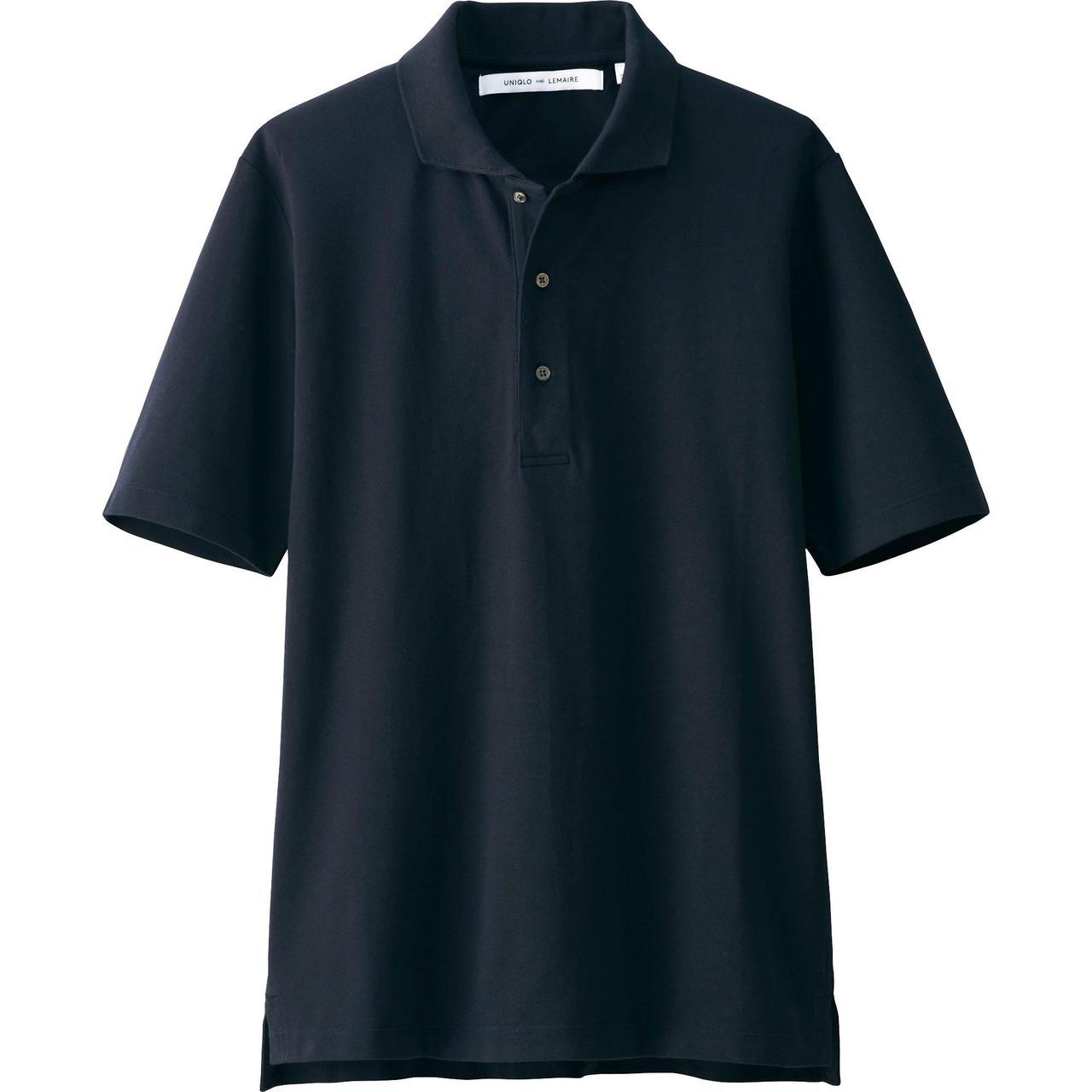 Мужская футболка поло Uniqlo Men Supima Cotton NAVY