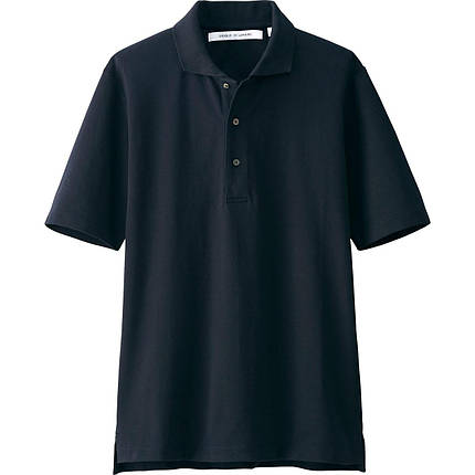 Мужская футболка поло Uniqlo Men Supima Cotton NAVY, фото 2
