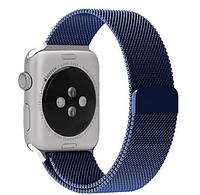 Ремешок браслет миланская петля Milanese loop Apple Watch 38/40 mm, Blue (Синий)