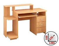 Стол компьютерный СКП №13 (Макси мебель) 1280х570х930мм