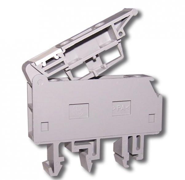 Клемма винтовая с держателем предохранителя 5х20 RSP 4 A серая (A631210)