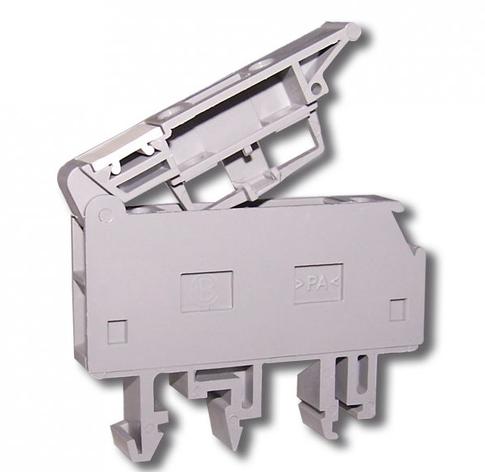 Клемма винтовая с держателем предохранителя 5х20 RSP 4 A серая (A631210), фото 2