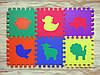 """Мягкий игровой пол (коврик-пазл 30*30*1 см) Eva-Line """"Зоопарк"""" разноцветный, фото 3"""