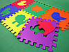 """Коврик-пазл (Мягкий игровой пол) 30*30*1 см. Eva-Line """"Зоопарк"""" разноцветный, фото 2"""
