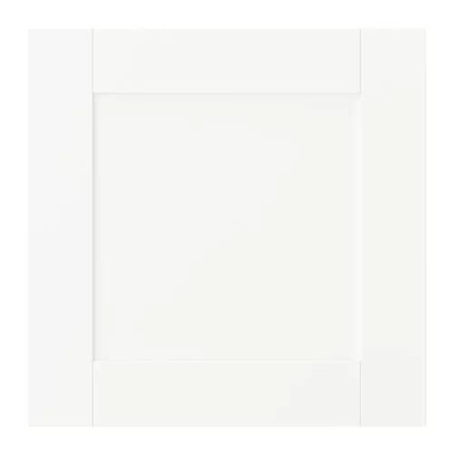 Дверца с петлями IKEA SANNIDAL 40x40 см белая 292.430.22