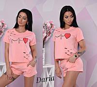 Женский костюм с шортами и футболкой на лето 5510599