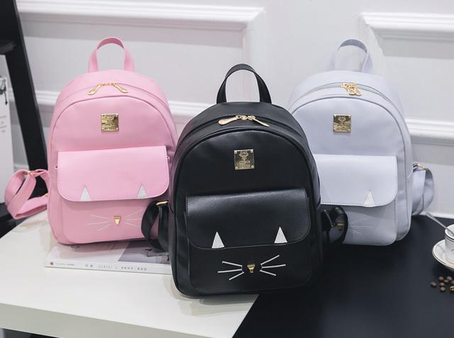 рюкзаки с мордочкой кота