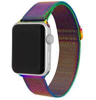 Ремешок браслет миланская петля Milanese loop Apple Watch 42 / 44 mm, Colorful(Хамелеон)