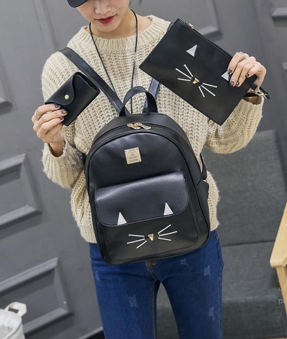 рюкзак с сумочкой и кошельком