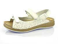 Женские белые кожаные сандалии на платформе Inblu MK-2U 02af6472ec837