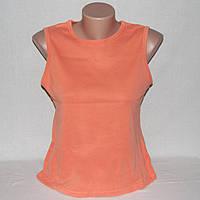 Абрикосовая майка Bhs, футболка-безрукавка женская, р.44-46