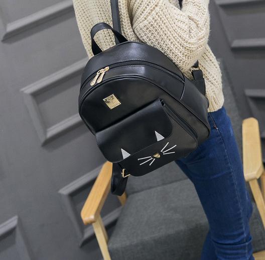 рюкзак чёрный в виде кота