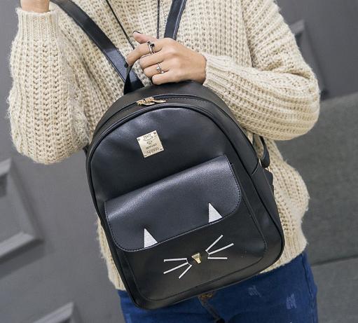 рюкзак чёрный кожзам