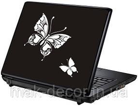 Вінілова наклейка на ноутбук-Метелики