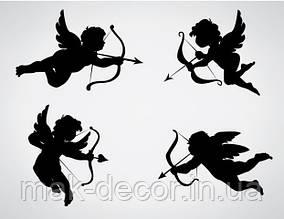 виниловая наклейка - набор ангелов 4 шт