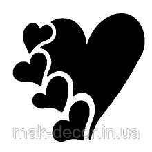 виниловая наклейка - Сердечки