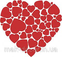 виниловая наклейка -  Сердечко с сердец