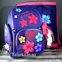Школьный рюкзак для девочки DeLune (рюкзак+сменка+брелок) 6-117