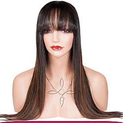 Перука з Натурального Волосся 60-65 см 220 грам, №1B/04