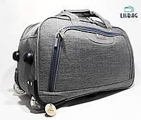 4ad9f5d15341 Велика дорожя сумка на колесах ХL (80 л) Серая (64 39 32) Чемодан дорожная  сумка Валіза