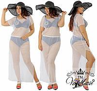 Пляжное прозрачное женское платье № 1588