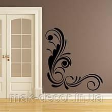 Вінілова інтер'єрна наклейка -Інтер'єрний візерунок на стіні 3 (ціна за розмір 64х60 см)