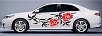 """Виниловая наклейка на авто - Декаль """"Розы"""" 49х160 см"""