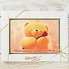 """Шоколадная открытка """"Моей половинке... """" классическое сырье. Размер: 187х142х10мм, вес 170г"""