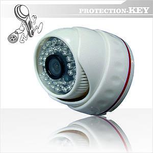Видеокамера внутренняя купольная AHD Able PK-71N 3,6 мм White