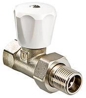 """Ручной радиаторный клапан  прямой 3/4"""" компакт Valtec VT.008.L"""