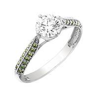 Золотое кольцо Оливия с бриллиантами и сердцами в касте 17 000061548
