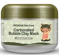 Маска для лица Bioaqua carbonated bubble clay mask   100грамм