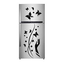 Виниловая наклейка на холодильник -узор рука бабочки(цена за набор на листе 35х25 см)
