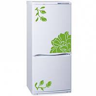 Виниловая наклейка на холодильник -Веточки и цветок
