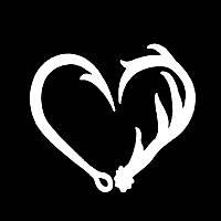 вінілова наклейка - серце половинки