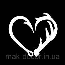 виниловая наклейка -  сердце половинки