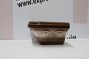 Карниз кутовой  «Барвинок» коричнево-белый, фото 2