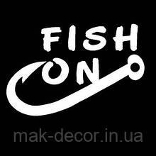 Виниловая наклейка -fish on