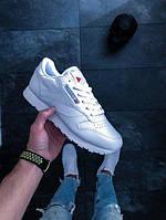 Женские кроссовки Reebok Classic Leather (White) 2232 ОРИГИНАЛ рибок белые