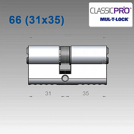 Цилиндр Mul-T-Lock Classic PRO 66 мм (31х35)